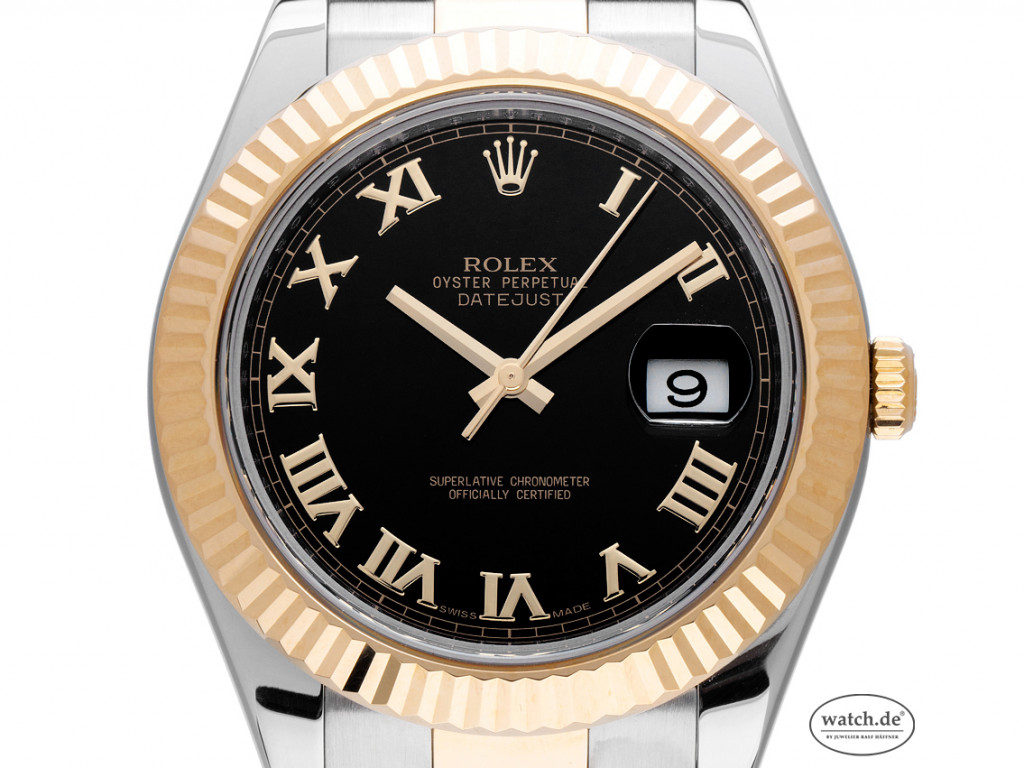Rolex Datejust II Stahl Gelbgold Automatik Armband Oyster 41mm Ref.116333 Vintage Bj.2012 Box&Pap. LC EU Full Set wie Neu