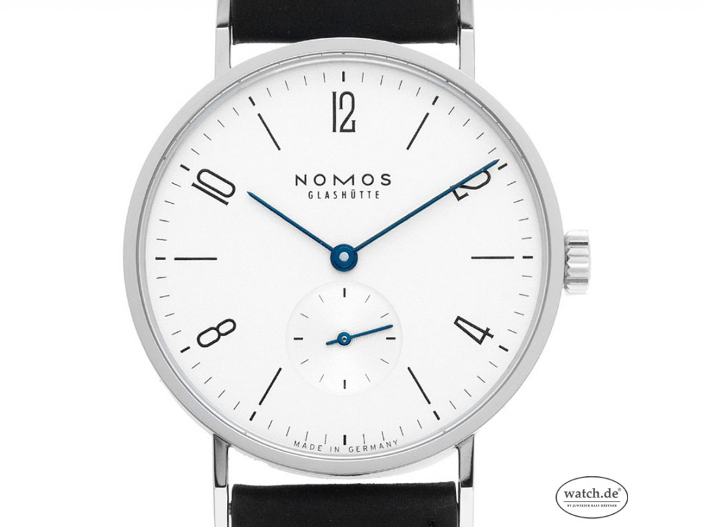Nomos Glashütte Tangente Stahl Handaufzug Armband Leder 38mm Ref.101 Bj.2020 Box&Pap. Full Set Neu mit Zertifikat über 1.460,-€