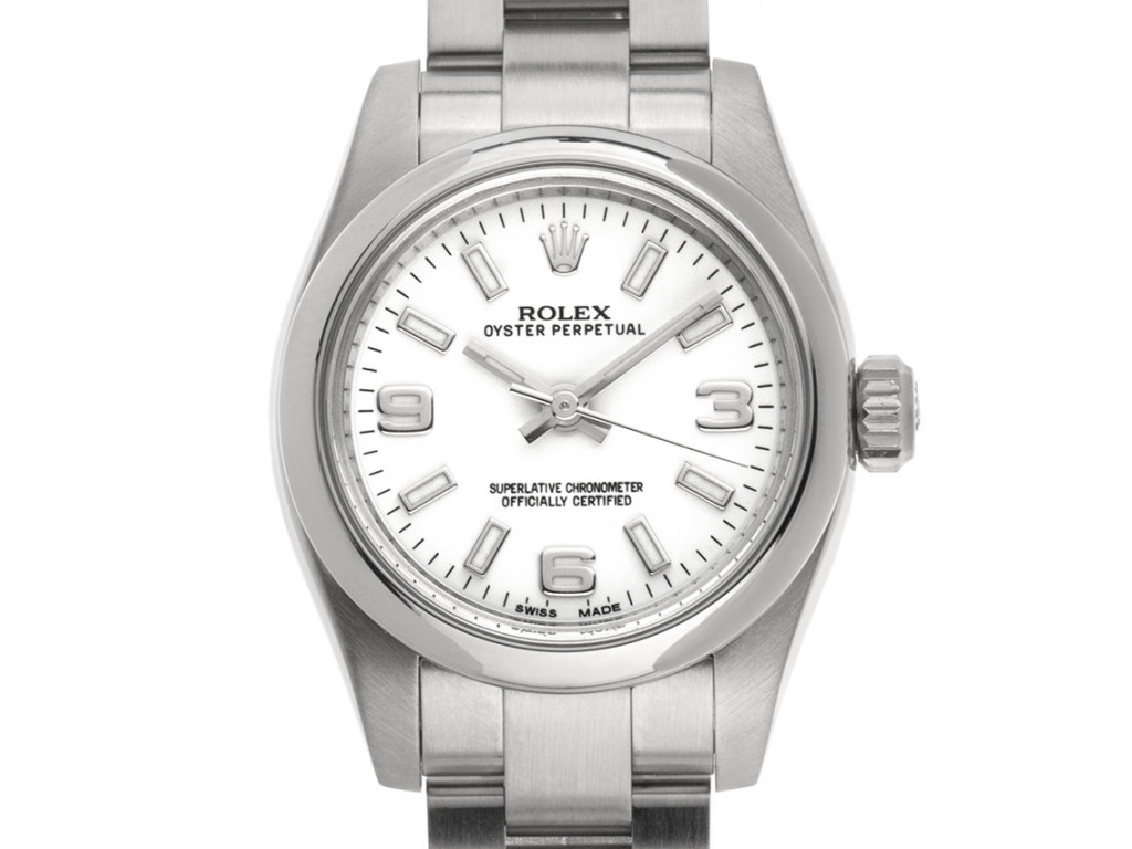 Rolex Oyster Perpetual Lady Stahl Automatik Armband Oyster 26mm Ref.176200 Bj.2016 Box&Pap. LC 100 Full Set