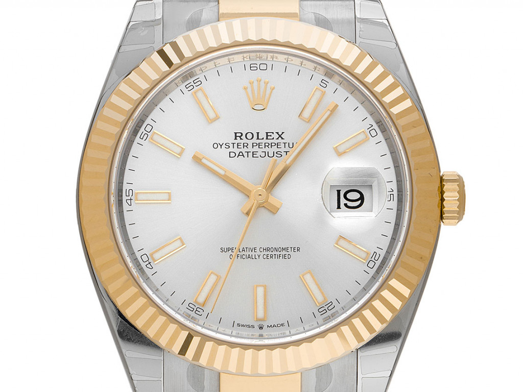 Rolex Datejust 41 Stahl Gelbgold Automatik Armband Oyster Ref.126333 Bj.2020 Box&Pap. LC EU Full Set Ungetragen verklebt