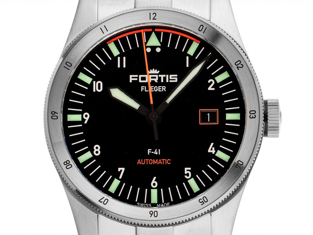 Fortis Flieger F-41 Stahl Automatik Armband Stahl 41mm Ref.422.0008 Box&Pap. Full Set UVP 2.400,-€ Neu