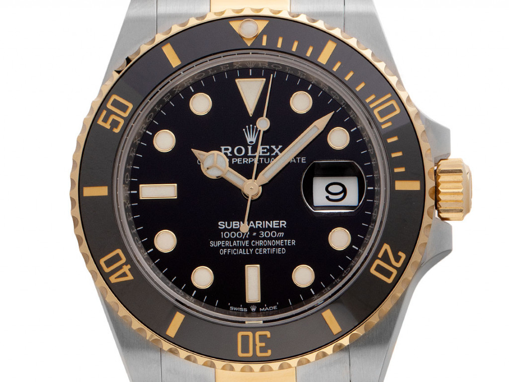 Rolex Submariner Date Stahl Gelbgold Keramik Automatik Armband Oyster 41mm Ref.126613LN Bj.2021 Box&Pap. Full Set Ungetragen