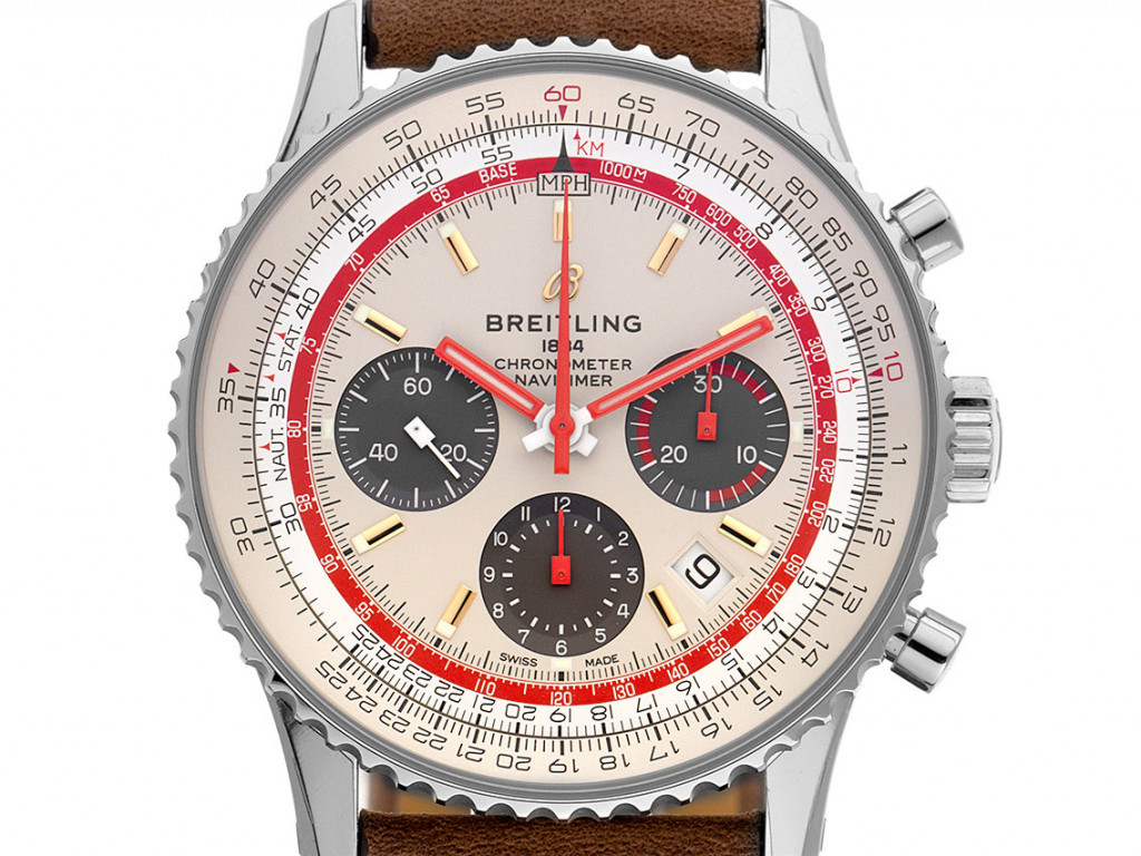 Breitling Navitimer B01 TWA Edition Stahl Automatik Chronograph Armband Leder Faltschließe 43mm Bj.2020 Box&Pap. Full Set Ungetragen mit Zertifikat über 7.650,-€