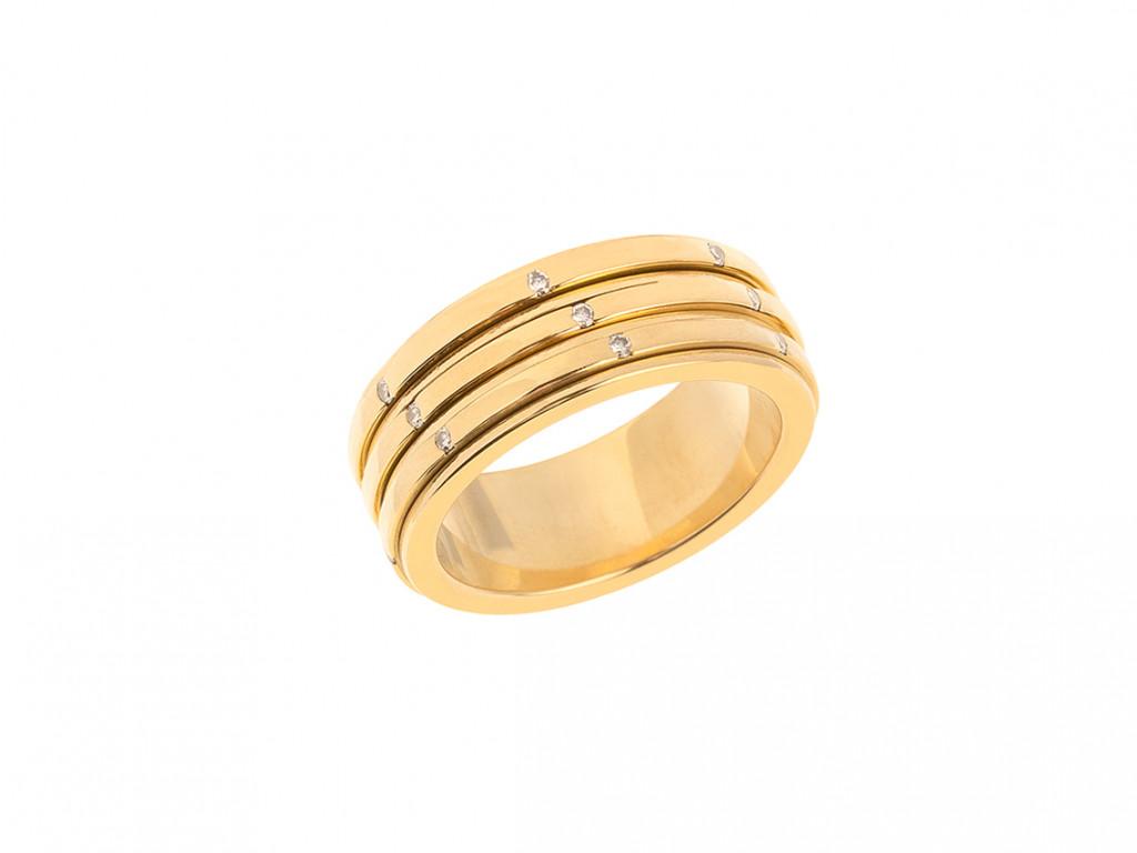 Piaget Ring 18kt Gelbgold Diamanten 0.21ct Handarbeit Neu
