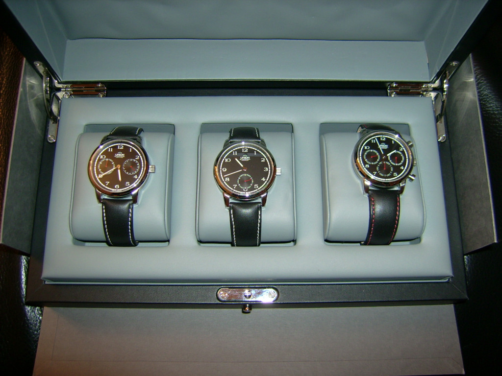 UNION Glashütte 3er Set No. 34 von 111 Jubiläumsedition