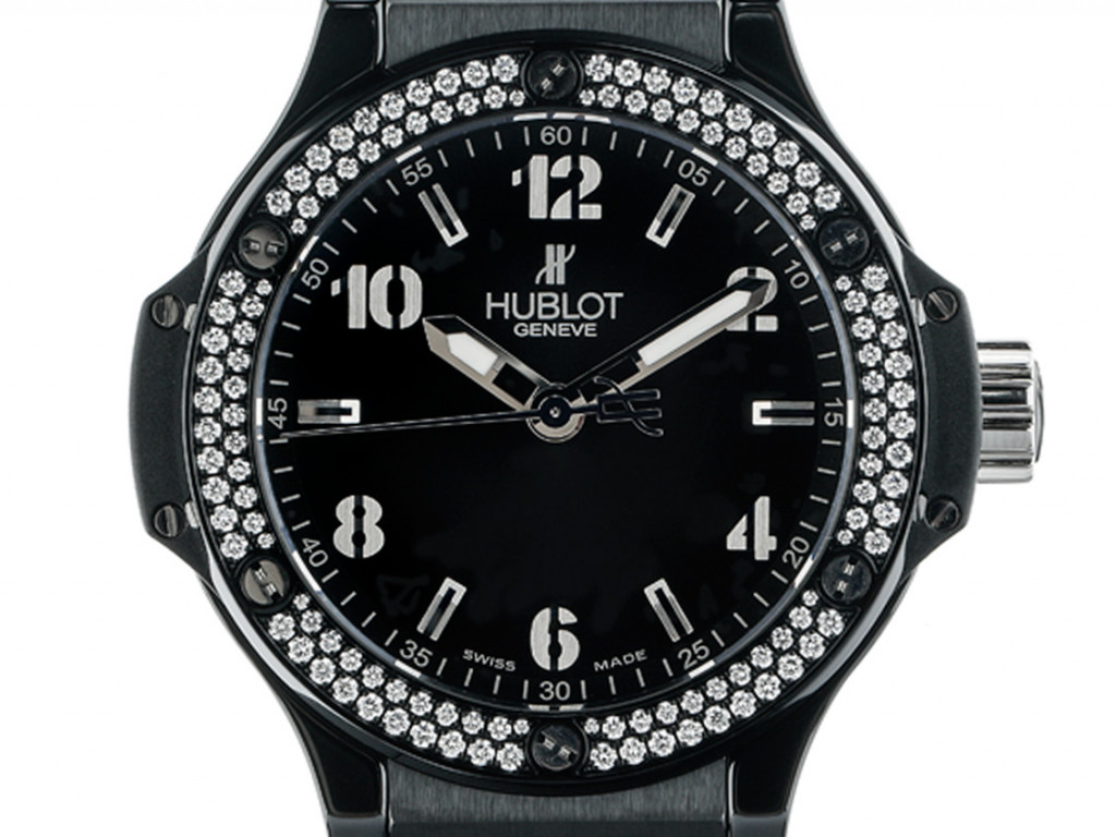 Hublot Big Bang Black Magic Stahl Keramik Diamond Quarz Armband Kautschuk 38mm UVP 11.300,- Ungetragen