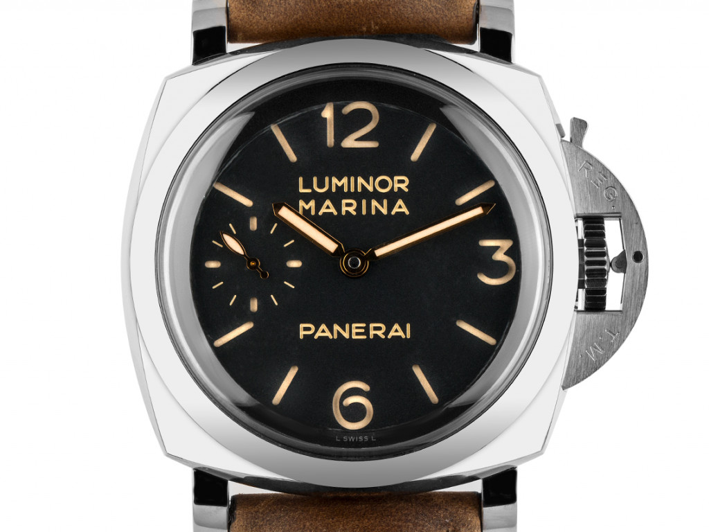 Panerai Luminor Marina 1950 3 Days Stahl Handaufzug Armband Leder 47mm Ref.PAM00422 Box&Pap. Full Set Ungetragen mit Zertifikat über 9.300,-€