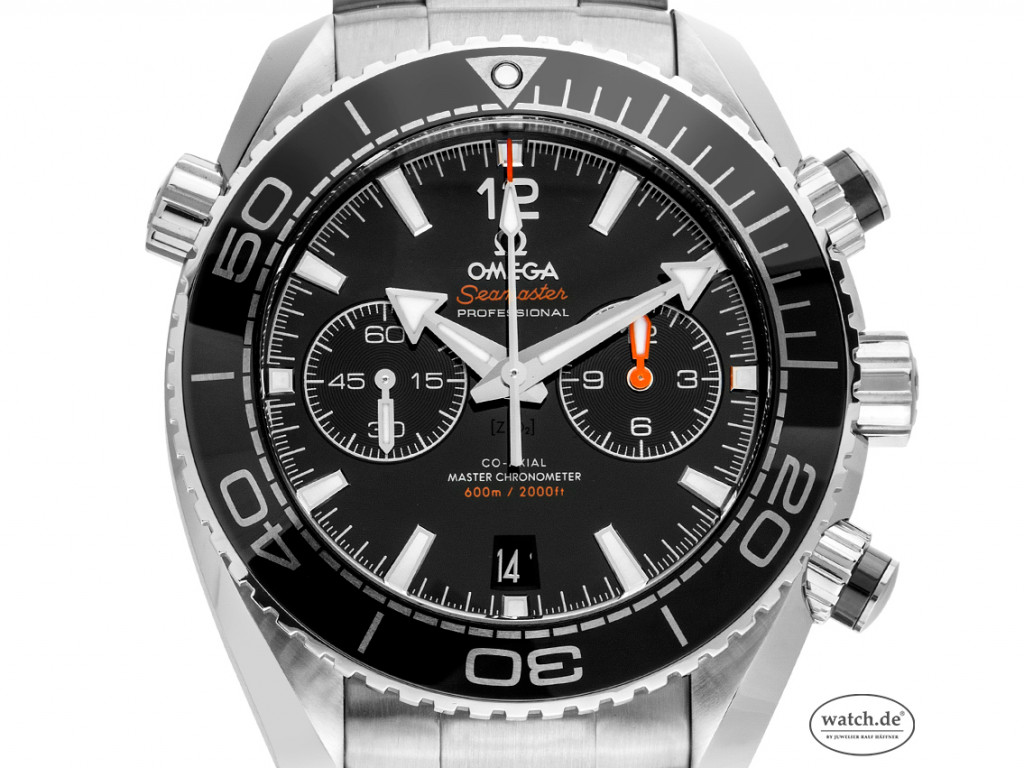 Omega Seamaster Planet Ocean 600m Co-Axial Master Chronometer Chronograph Stahl Automatik Armband Stahl 46mm Box&Pap. Full Set Ungetragen mit Zertifikat über 7.800,-€
