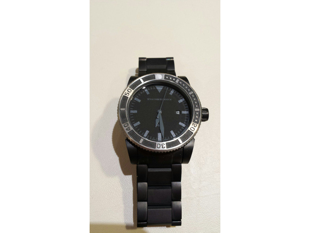 Schaumburg Watch AQM 4 PVD Black