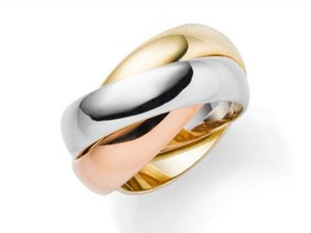 Ring Tricolor 14kt Rot-/Gelb/-Weißgold Neu mit Zertifikat über 2.576,-€