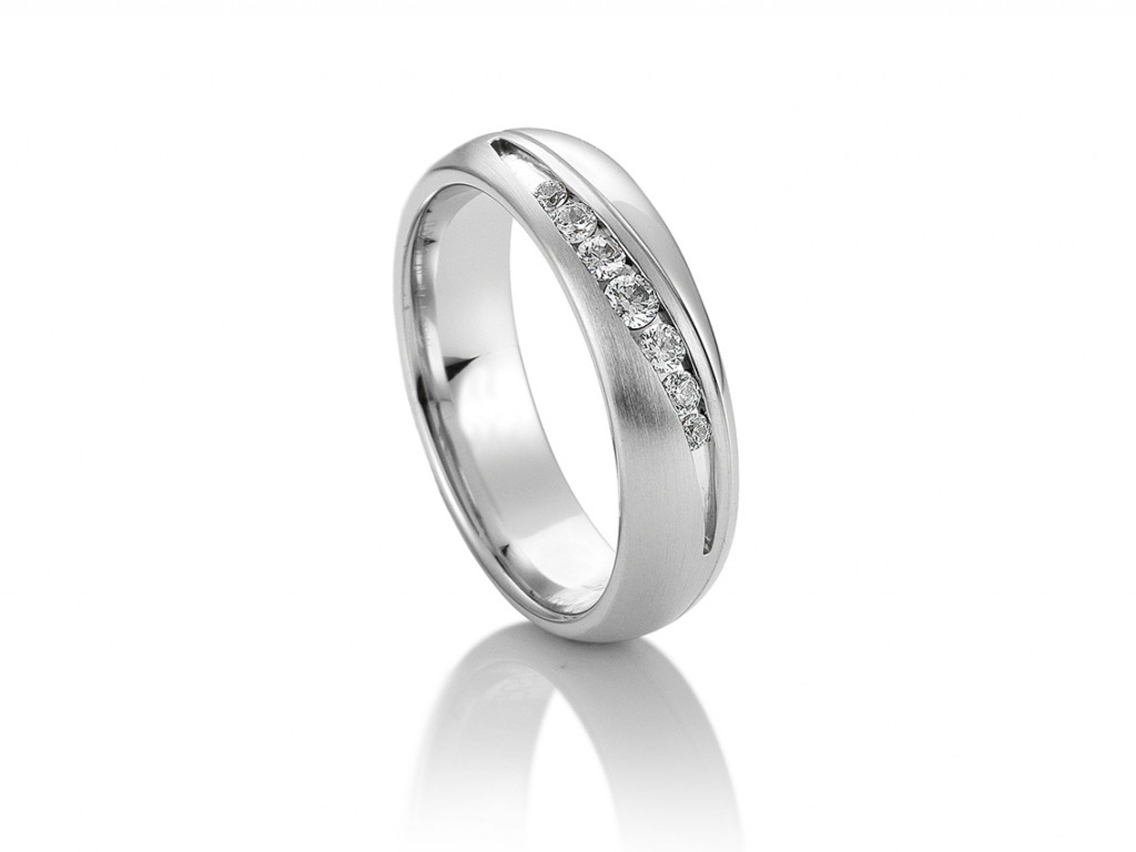 Saint Maurice Trauring Ehering Verlobungsring Freundschaftsring 14kt Weißgold Diamanten UVP 1.362,- € Neu