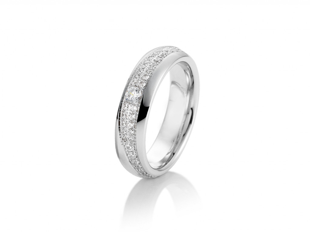 Saint Maurice Trauring Ehering Verlobungsring Freundschaftsring 14kt Weißgold Diamanten UVP 2.512,- € Neu