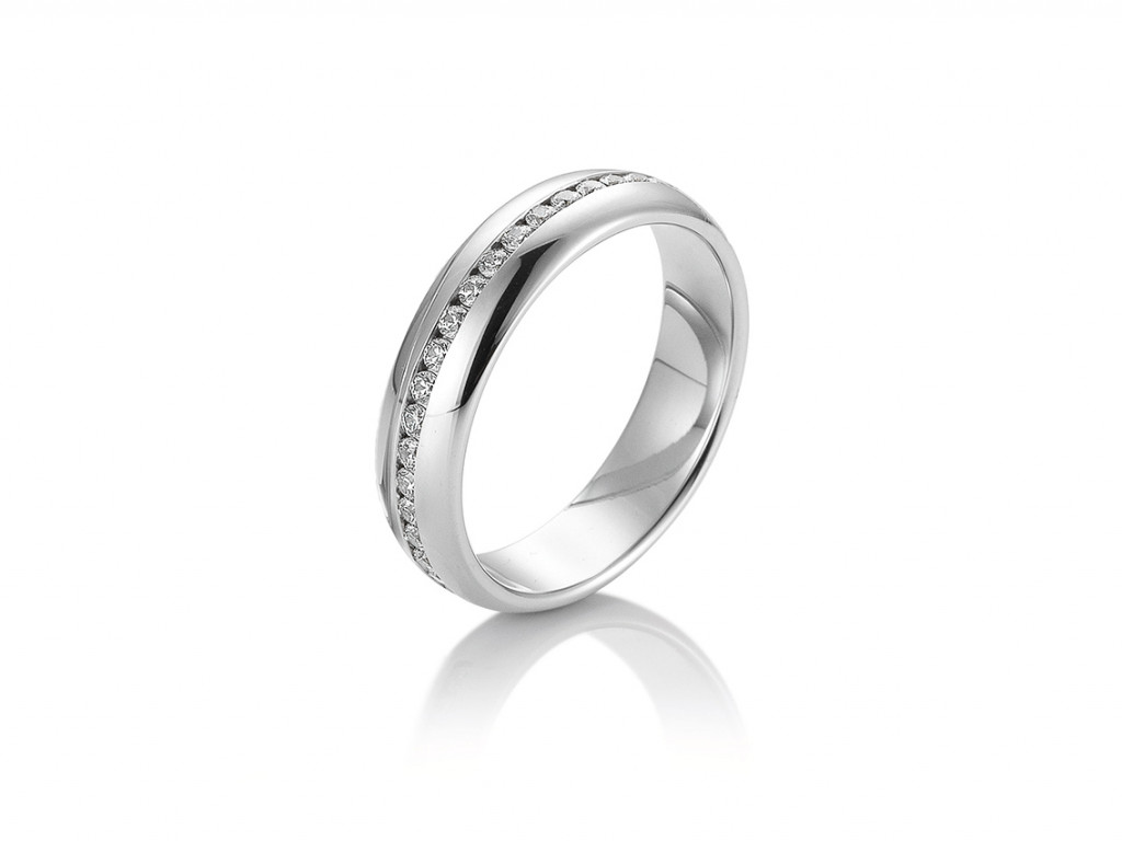 Saint Maurice Trauring Ehering Verlobungsring Freundschaftsring 14kt Weißgold Diamanten UVP 1.565,- € Neu