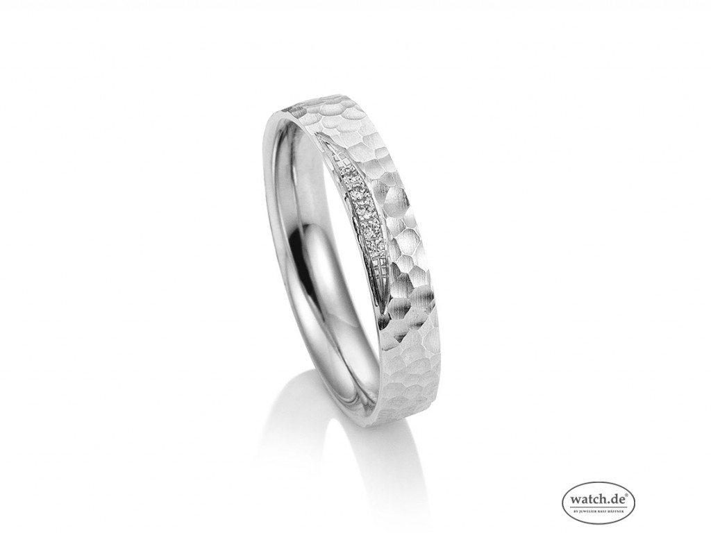 Saint Maurice Trauring Ehering Verlobungsring Freundschaftsring 14kt Weißgold Diamanten UVP 759,- € Neu