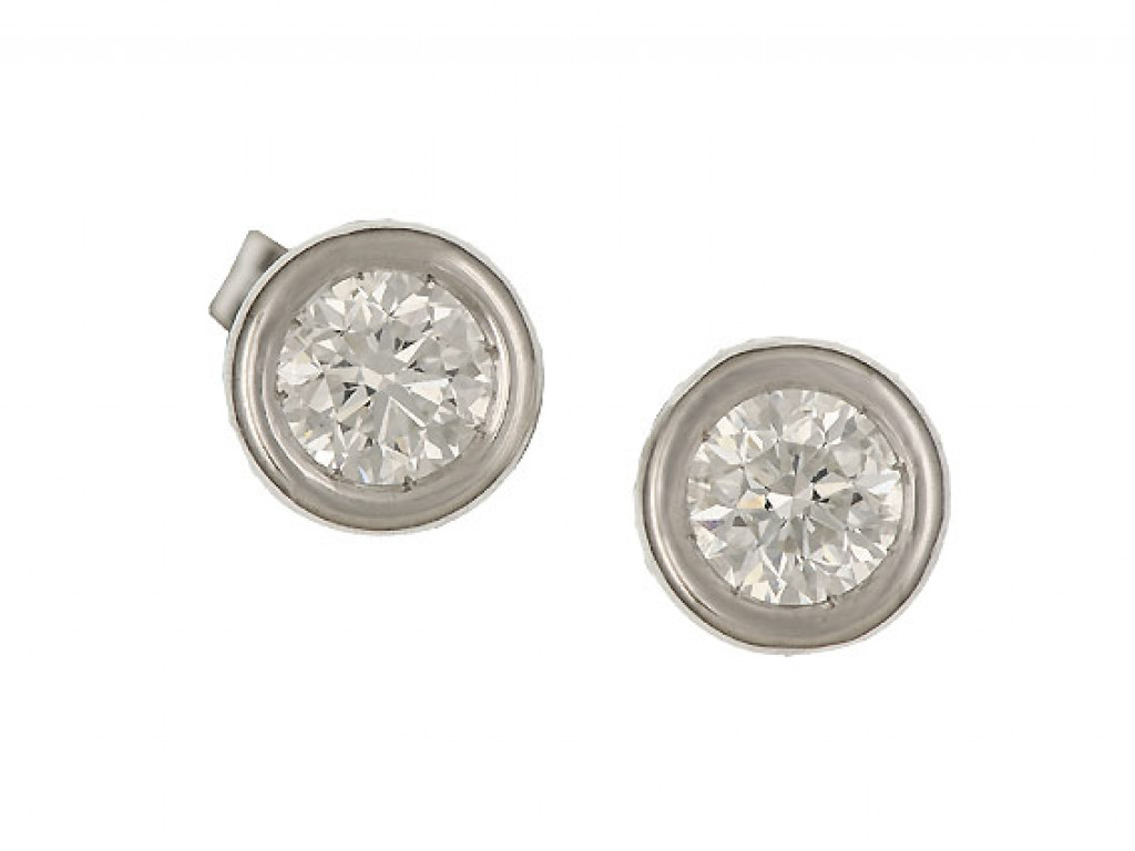 Ohrstecker Weißgold Solitär Diamond 1,01ct UVP 7.670,- Neu