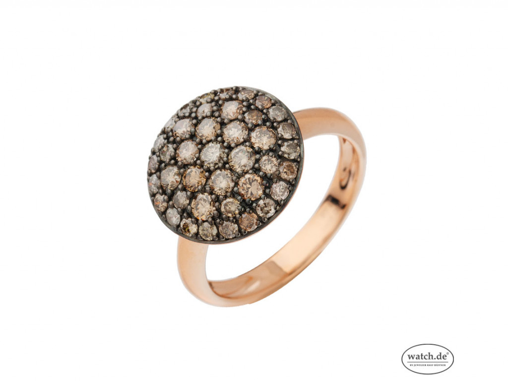 Ring 18kt Roségold Diamanten braun Neu mit Zertifikat über 898,-€