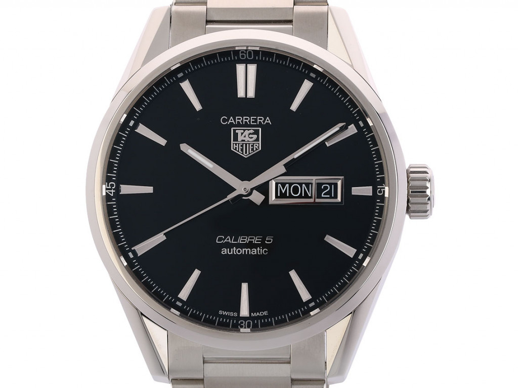 Tag Heuer Carrera Calibre 5 Day Date Stahl Automatik Stahlband 41mm UVP 2.350,- Ungetragen