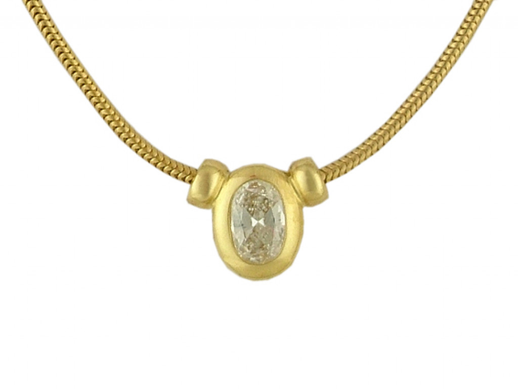Collier Gelbgold Diamond 0,47ct UVP 4.880,- Neu