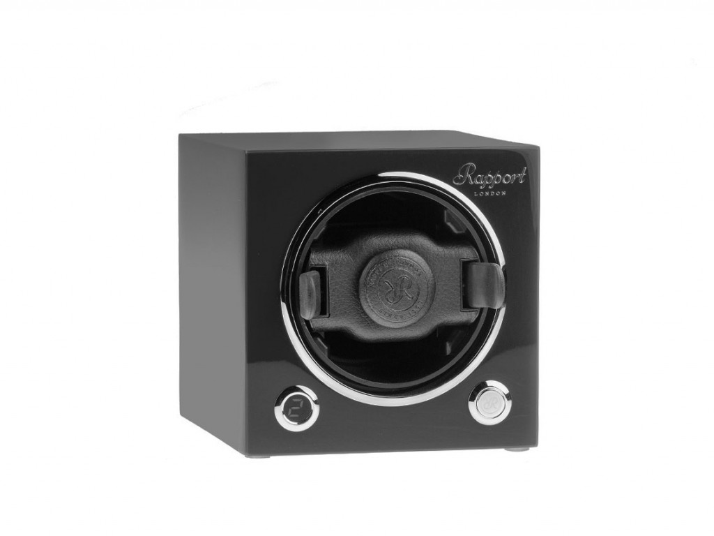 Rapport Evocube MKIII Single Watch Winder Schwarz lackiert stapelbar 120x120x146mm Neu