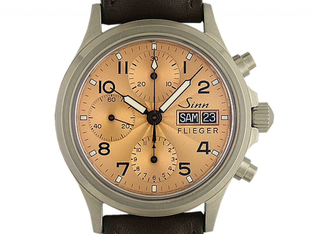 Sinn 356 Sa Flieger II Stahl Automatik Chronograph Armband Leder 39mm Neu mit Zertifikat über 2.300,-€