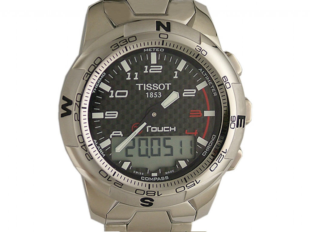 Tissot T-Touch II Titan Chronograph Quarz 43 mm UVP 795,- Ungetragen