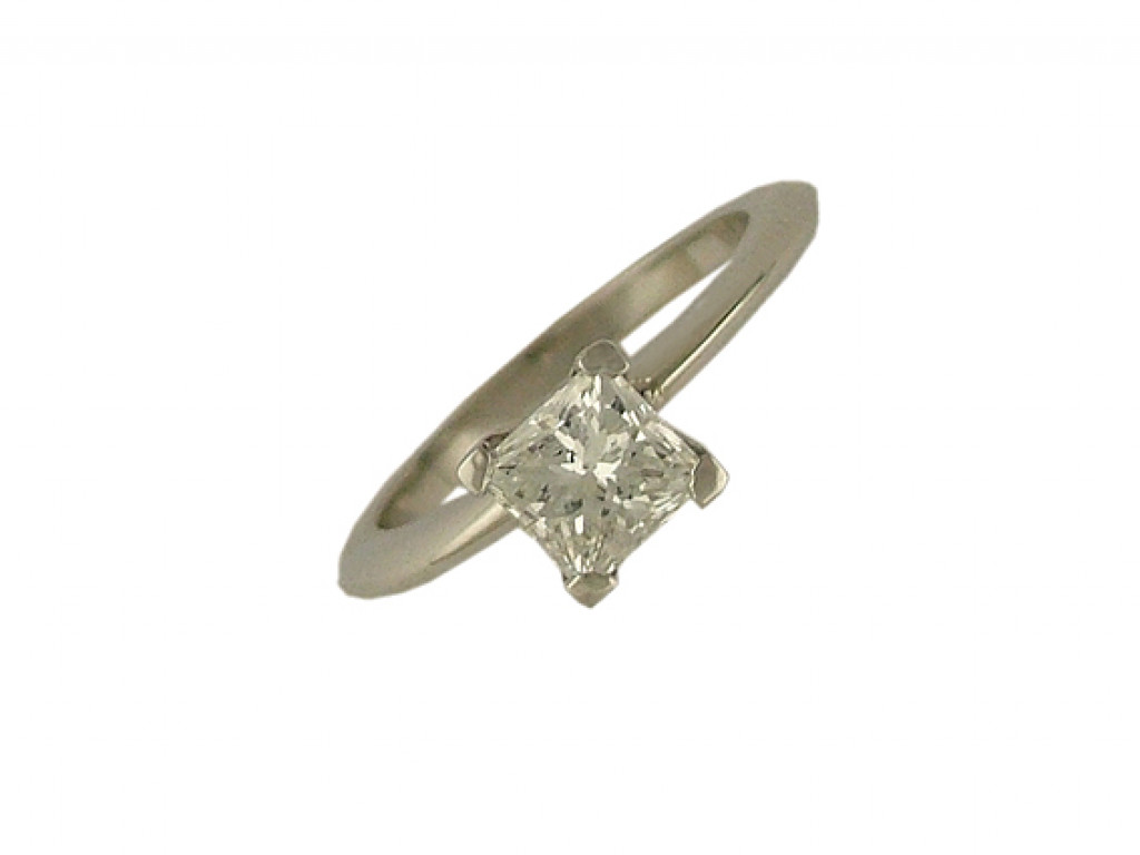 Ring 950 Platin Diamond Princess 1,0ct UVP 12200.- NEU
