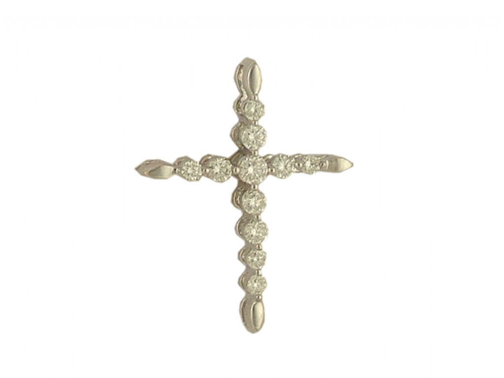 Anhänger Kreuz 18kt Weißgold Diamond UVP 1.495,- Neu