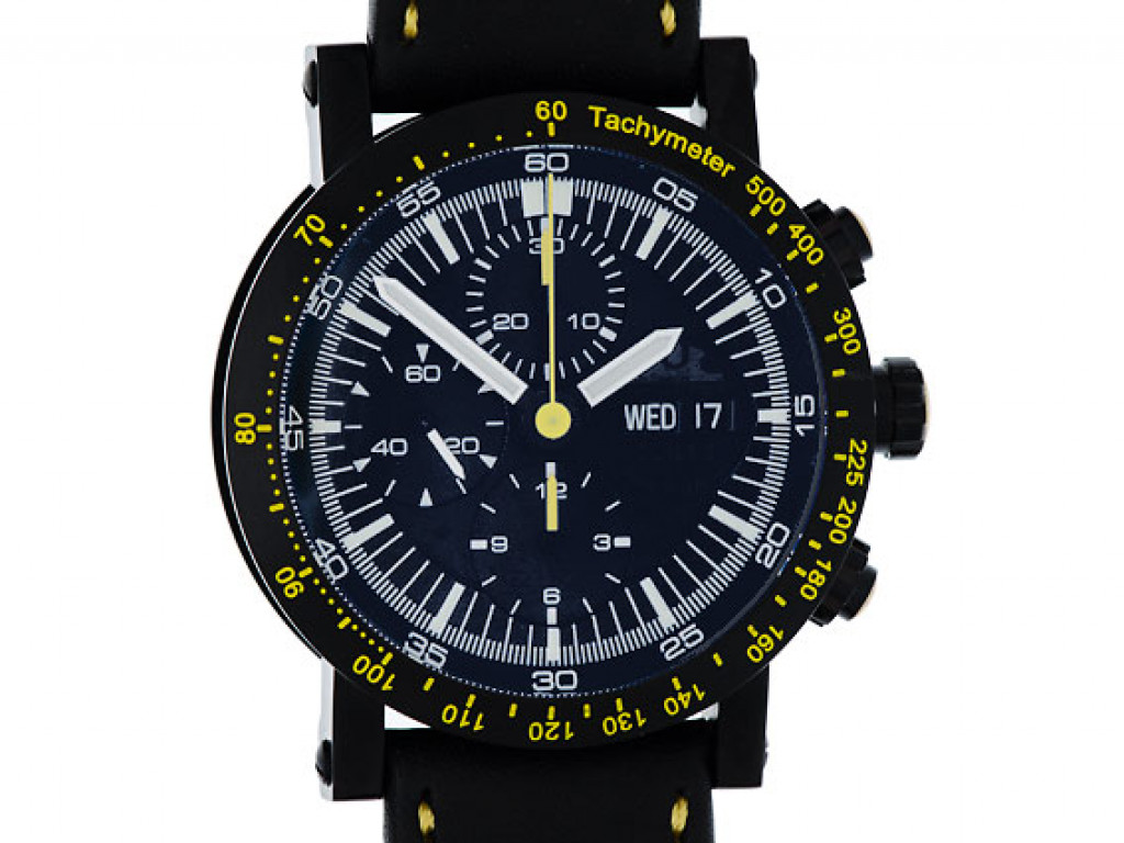Temption Chronograph Classic Curare Day Date Yellow Black Limitiert 43mm Neu